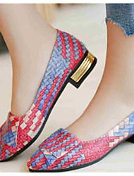 cheap -Women's Flats Flat Heel Microfiber / PU Fall / Spring & Summer Orange / Light Purple / Red