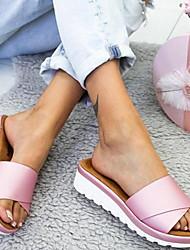 cheap -Women's Slippers & Flip-Flops Outdoor Slippers Low Heel Round Toe Daily PU Summer Purple Pink