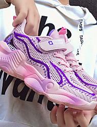 Недорогие -Девочки Удобная обувь Сетка Спортивная обувь Маленькие дети (4-7 лет) Пурпурный / Черный / Серый Лето