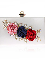 cheap -Women's Bags Polyester Evening Bag Flower Floral Print Party Wedding Event / Party Wedding Bags Handbags Black Blue Red Fuchsia