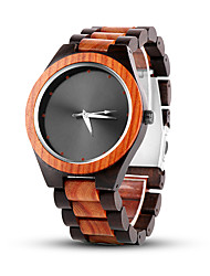 cheap -Men's Dress Watch Quartz Stylish Casual Casual Watch Analog Black / One Year / Wood
