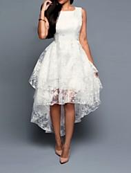 cheap -Women's A Line Dress - Sleeveless Floral White Black Blushing Pink Gray S M L XL XXL XXXL XXXXL XXXXXL