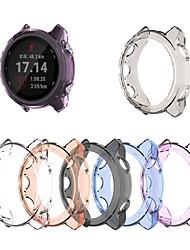 cheap -Cases For Garmin Forerunner 645 / Forerunner 645 music TPU Screen Protector Smart Watch Case Compatibility