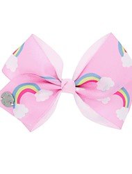 cheap -Kids / Toddler / Infant Girls' Active / Sweet Unicorn Geometric / Color Block / Animal Bow Polyester Hair Accessories White / Purple / Yellow One-Size