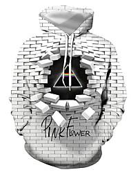 cheap -Men's Plus Size Hoodie Geometric / 3D / Letter Hooded Casual / Street chic Gray S M L XL XXL XXXL XXXXL XXXXXL