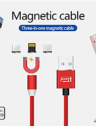 cheap -Micro USB / Lightning / Type-C Cable 2 A Braided / Quick Charge Canvas USB Cable Adapter For Huawei / Xiaomi / iPhone