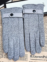 cheap -Men's Basic Fingertips Gloves - Solid Colored