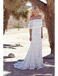 cheap -Women's Maxi White Dress A Line Solid Color Strapless S M