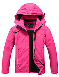 cheap -Women's Running Jacket Windbreaker Long Sleeve Waterproof Windproof Breathable Running Walking Jogging Sportswear Jacket Athleisure Wear Black Red Fuchsia Blue Activewear Micro-elastic / Quick Dry