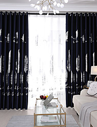 cheap -Gyrohome 1PC Silver Leafs Shading High Blackout Curtain Drape Window Home Balcony Dec Children Door *Customizable* Living Room Bedroom Dining Room