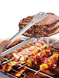 Недорогие -1 шт. Барбекю зажимы пищевые зажимы барбекю стейк зажимы гаджеты хлеб салат мясной зажим анти-жаркое барбекю шведский стол щипцы из нержавеющей стали кухонные инструменты
