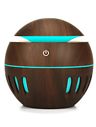 cheap -130ML Wood Grain Office Home Aroma Essential Oil Diffuser Mist Humidifier Air Purifier Storage Cabinets