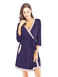 cheap -Women's Chemises & Gowns Nightwear Black Wine Purple S M L