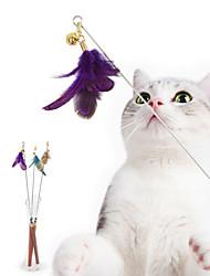 cheap -Teaser Interactive Cat Toys Fun Cat Toys Cat UltraLight Wood Gift Pet Toy Pet Play