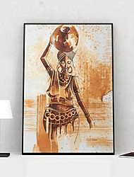 cheap -Framed Art Print Framed Canvas Prints - People PS Illustration Wall Art