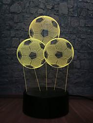 Недорогие -креативный футбольный шар 3d светодиодный usb светлый спальня сон ночной спорт свет rc usb пульт красочный детский подарок