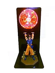 cheap -1Set Dragon Ball Z Lamp Goku Strength Bombs Luminaria Table Lamp DBZ Decorative Night Lights Kids Baby Children LED Lighting In Red / Blue / Green / White / Colorful EU US plug