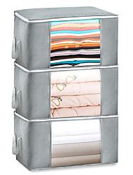 Недорогие -3 шт. Ткани для хранения шкаф организатор прямоугольник для дома организации хранения 1 шт.