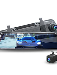 cheap -2K Image Quality Streaming Media Double Lens Front and Rear Night Vision Reverse Image Car DVR 170 Degree Wide Angle CMOS 10 inch IPS Dash Cam with GPS / Night Vision / G-Sensor 4 infrared LEDs