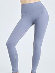 cheap -Women's High Waist Yoga Pants Leggings Tummy Control Butt Lift Quick Dry Solid Color Black Dark Purple Light Purple Fitness Gym Workout Running Sports Activewear High Elasticity Skinny