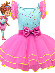 cheap -Fancy Nancy Dress Cosplay Costume Girls' Movie Cosplay Cosplay Costume Party Pink Dress Tulle Polyster
