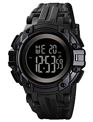 cheap -SKMEI Men's Digital Watch Quartz Sporty Outdoor Military Digital Black Blue Red / One Year / Silicone / Calendar / date / day / Chronograph / Stopwatch