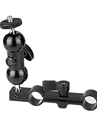 Недорогие -Camvate универсальная 1 / 4-20 мини шаровой головкой&усилитель; 15-миллиметровый двойной стержневой зажим c2065