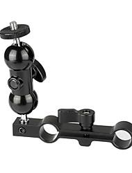 cheap -CAMVATE Versatile 1/4-20 Mini Ball Head & 15mm Dual Rod Clamp C2065