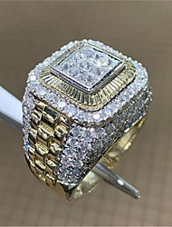 cheap -Ring AAA Cubic Zirconia Gold Platinum Plated Alloy Stylish 1pc 6 8 10 11 12 / Men's / Daily