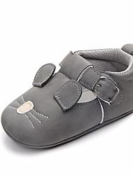 cheap -Boys' / Girls' Comfort / First Walkers PU Flats Infants(0-9m) / Toddler(9m-4ys) Almond / Pink / Brown Spring / Fall