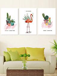 Недорогие -5 шт. Печать декоративной живописи масляной живописи дома декоративные настенные росписи на холсте 40x60 см x 3 животных ботанический современный