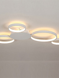 cheap -4-Light 80 cm Cluster Design Circle Design Flush Mount Lights Aluminum Silica gel Painted Finishes LED Modern 110-120V 220-240V