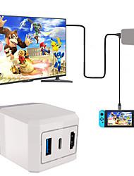 Недорогие -Проводное Зарядное устройство / Кабель Назначение Nintendo Переключатель ,  Зарядное устройство / Кабель ABS 2 pcs Ед. изм
