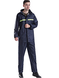 cheap -Protective Clothing Anti Dust And Droplet Men's Fall & Winter Suit, Solid Colored Stand Long Sleeve Polyester Navy Blue