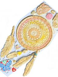Недорогие -Перо бабочка силиконовые помадки выпечки инструмент поделки плесень