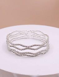 cheap -Women's Wrap Bracelet Classic Precious Trendy Sweet Rhinestone Bracelet Jewelry White For Wedding Party Club