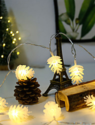 cheap -LED Pine Cone Light String Battery Small Lantern New Year Christmas Lighting Ins String Lights Wedding Festival Decoration Lights