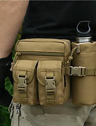 Недорогие -8 L Поясная сумка Сумка на пояс Военный Тактический Рюкзак Многофункциональный Быстровысыхающий Износостойкость На открытом воздухе Пешеходный туризм Походы Нейлон Черный ACU Цвет Военно-зеленный