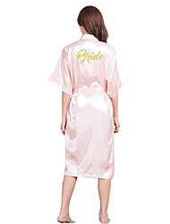 cheap -Normal Rayon Robes Sexy Letter Wedding Sexy