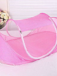 cheap -Baby Infant Bedding Crib Netting Portable Foldable Baby Mosquito Nets Bed Mattress Pillow Mosquito Net Tent Baby Infant Bed Dot Zipper Crib Sleeping Cushion collapsible portable