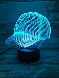 Недорогие -новая шляпа тема 3d светодиодные ночной свет 7 изменение цвета сенсорная кнопка настроение свет рождественский подарок