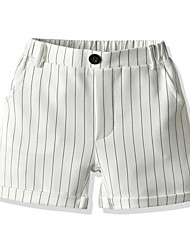 cheap -Kids Boys' Basic Street chic Striped Shorts White