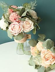 Недорогие -искусственные цветы 12 ветка классика современный современный простой стиль розы гортензии растения настольный цветок