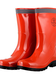 cheap -Men's PVC Spring & Summer Boots Waterproof Mid-Calf Boots Orange