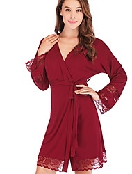 cheap -Women's Chemises & Gowns Nightwear Black Wine S M L