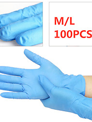 cheap -100 Pcs Disposable gloves Latex White Dingqing Medical Rubber Food Grade Catering Household Plastic Waterproof Inspection Thicken