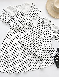 cheap -Mommy and Me Polka Dot Dress White