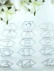 cheap -Acrylic Table Center Pieces - Personalized Ornaments 15 pcs
