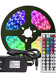 cheap -5m Flexible LED Strip Lights Light Sets RGB Tiktok Lights 300 LEDs SMD2835 8mm 1 24Keys Remote Controller 1 x 2A power adapter 1 set Multi Color Waterproof Cuttable Party 12 V