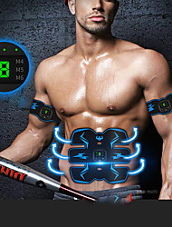 cheap -Abs Stimulator Abdominal Toning Belt EMS Abs Trainer Sports Silicon PU(Polyurethane) Exercise & Fitness Gym Workout Smart Electronic Muscle Toner Muscle Toning Tummy Fat Burner For Men Women